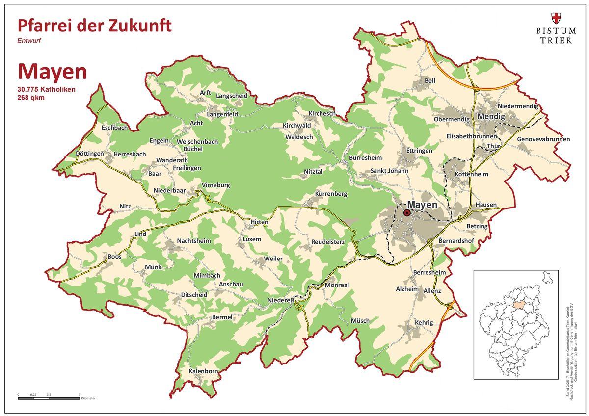 Bistum Trier Karte.Pfarreien Der Zukunft Im Bistum Trier